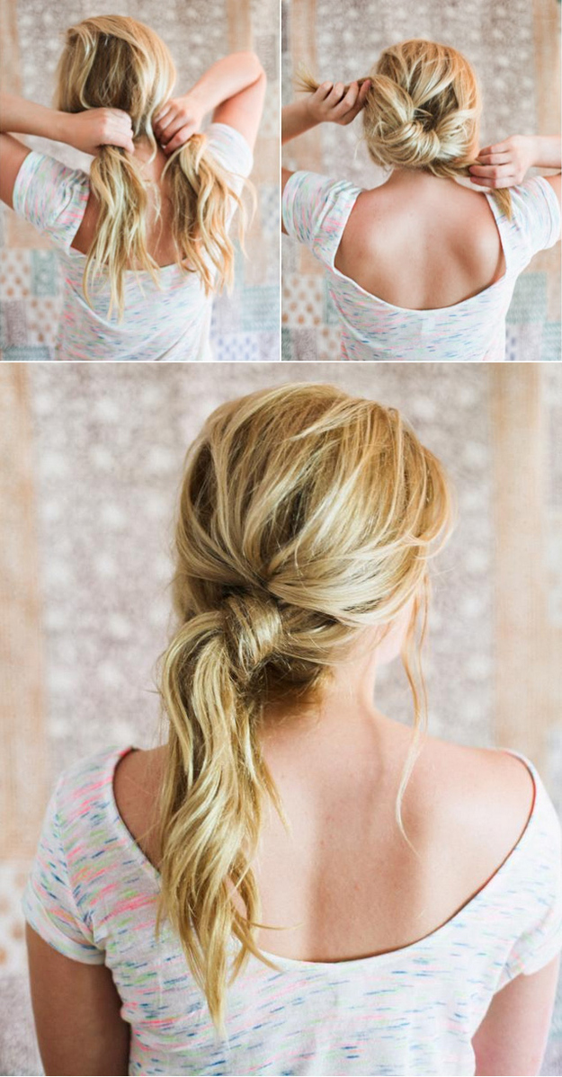 Messy Knotted Hairstyle Tutorial