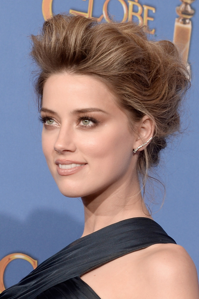 Amber Heard teased hair