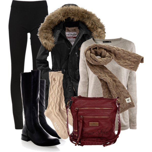 Winter outfit with leggings