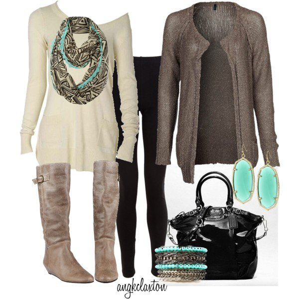 Casual outfit idea with leggings