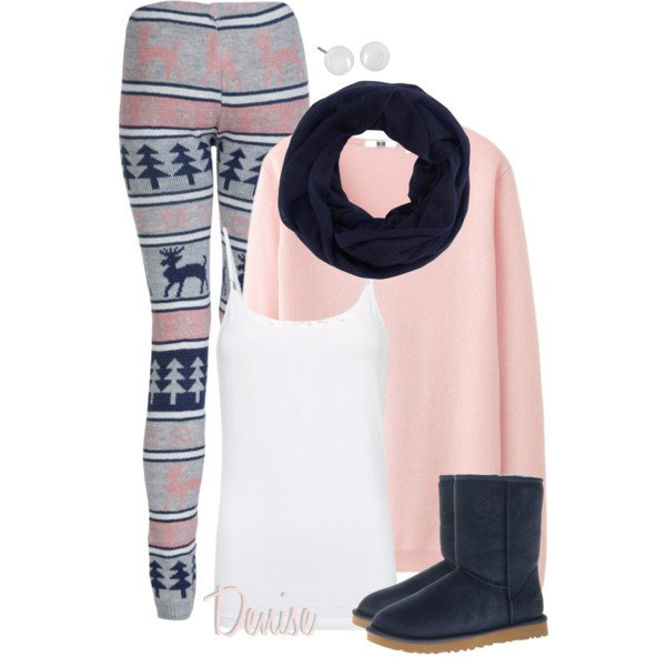 Pretty leggings outfit for winter