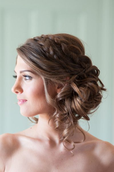 Double braided wedding hairstyle
