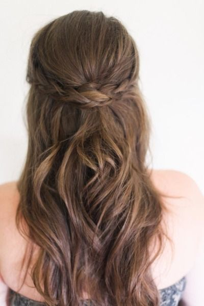 Braided headband hairstyle