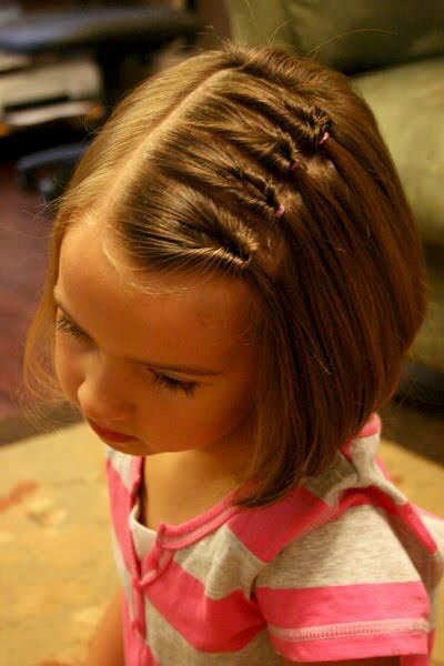 Cute bob hairstyle for little girls