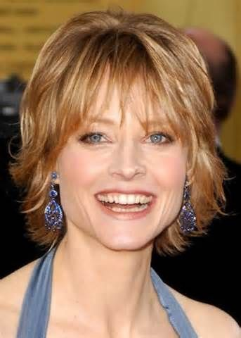 Short hairstyle for women over 40 with thin hair