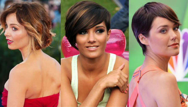 Side-part short hairstyles