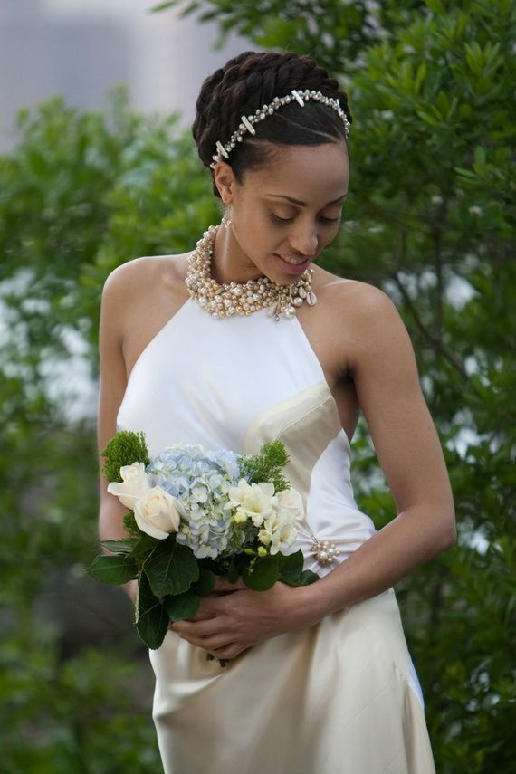 Braided updo wedding hairstyle for black women
