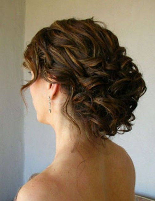 Wedding updo for curly hair