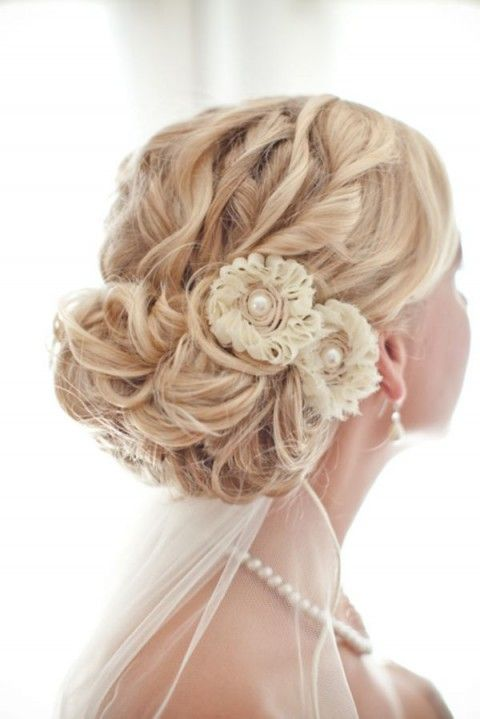 Adorable wedding updo