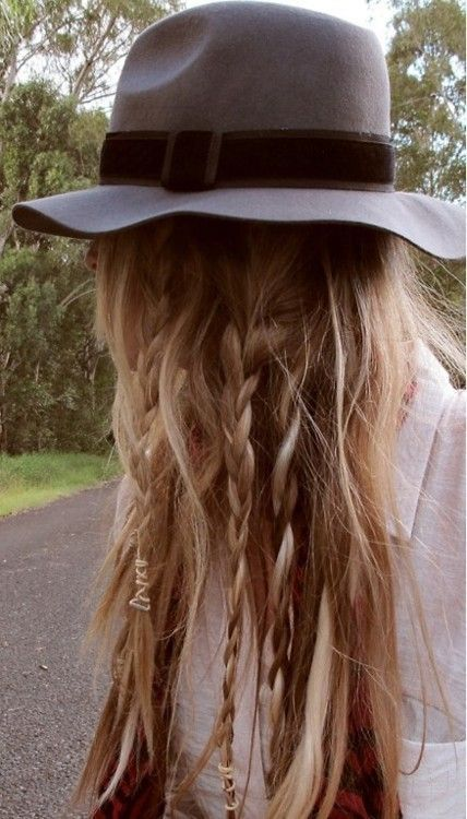 Cool bohemian hairstyle