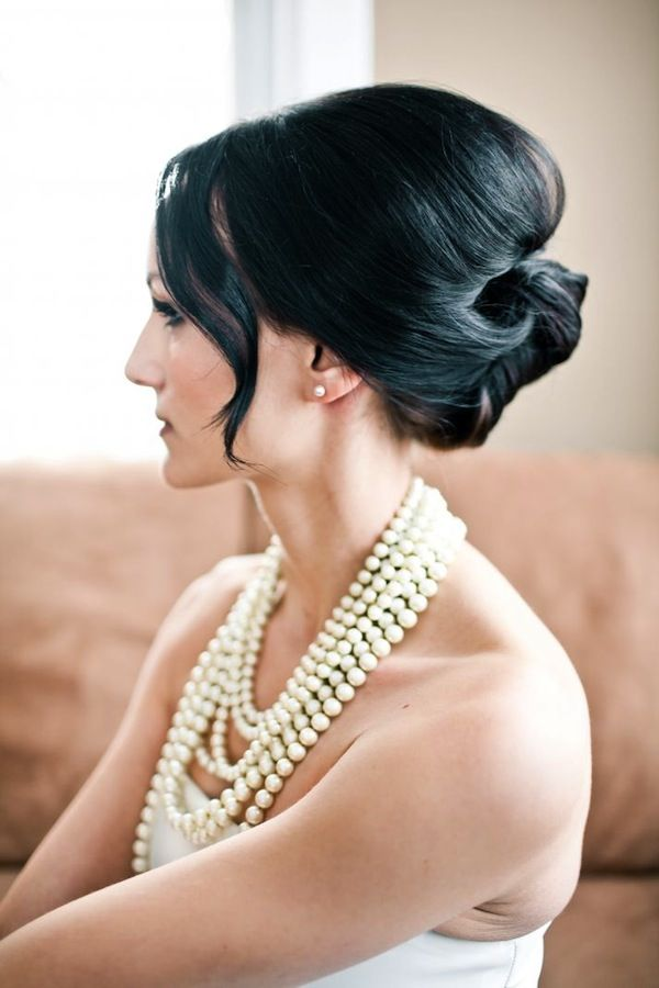 French twist updo for wedding hairstyles