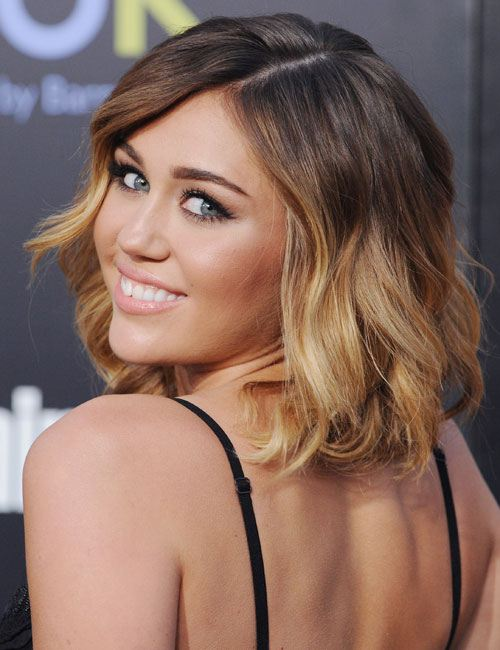 Ombre hairstyle for medium hair