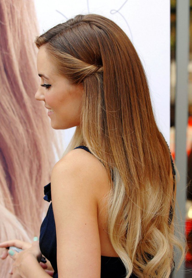Light ombre hairstyle