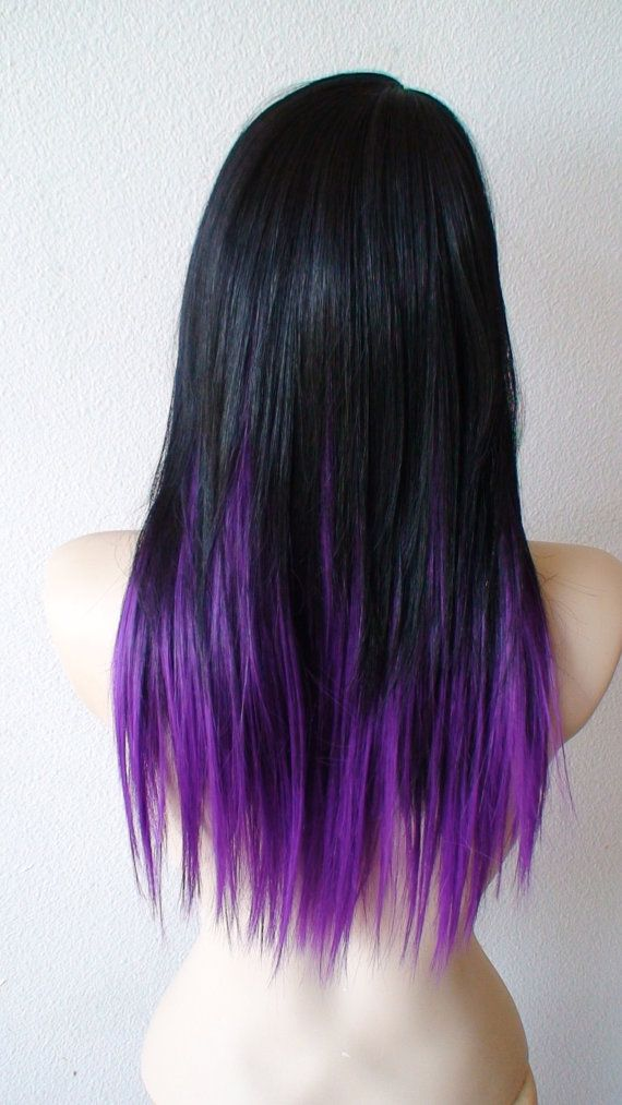 Purple ombre hairstyle