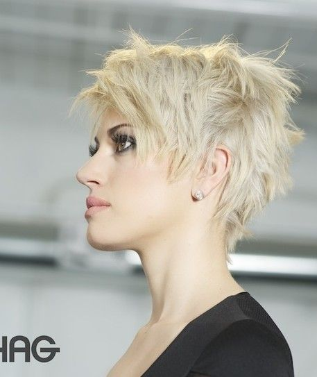 Choppy short pixie hairstyle