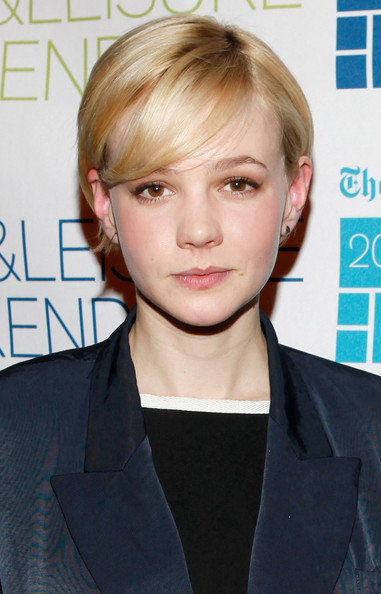 Pixie with a short side part