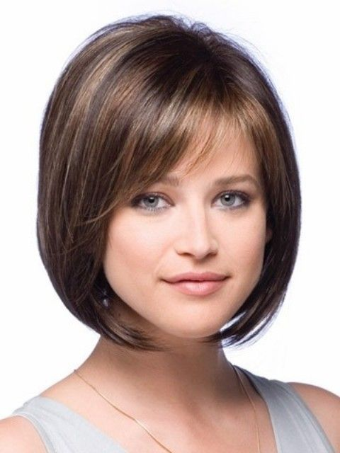 Nice short hairstyle with bangs