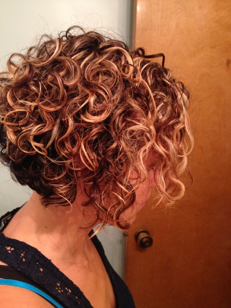 Big short curly hairstyle