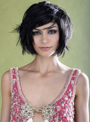 Chic short hairstyle for thick hair