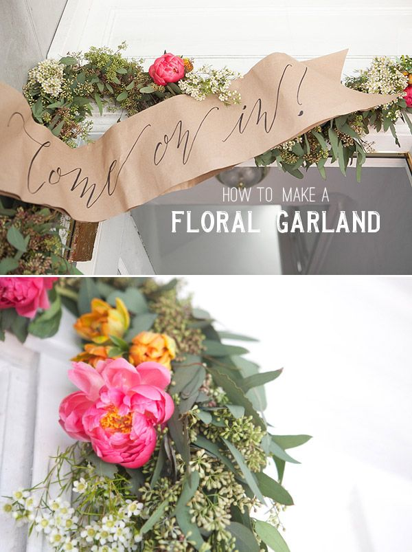 15 DIY flower garland projects for your home