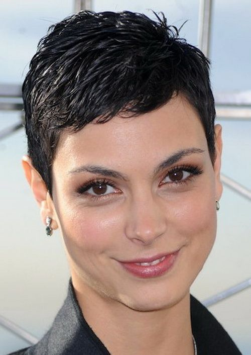 Super short hairstyle for black hair