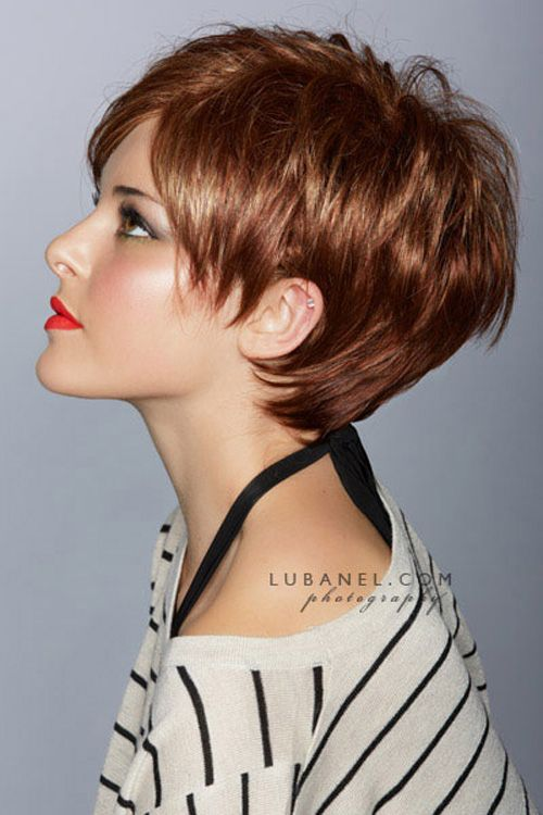 Super short brown hairstyle