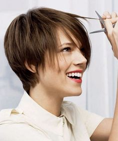 Super short pixie hairstyle