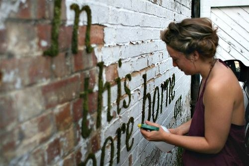 Write quotes on the wall with your children