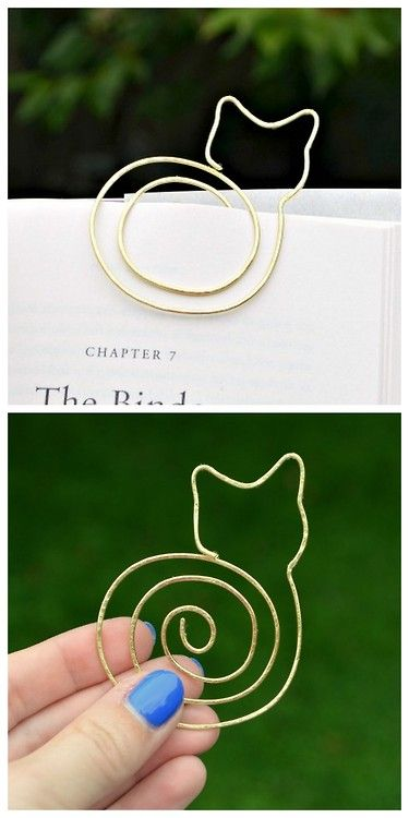 Simple cat bookmark