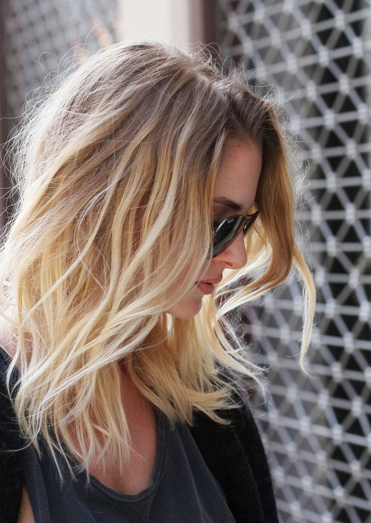 Pretty ombre waves for shoulder length hair