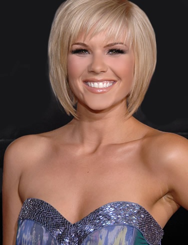 Short Kimberly Caldwell Hairstyle With Bangs