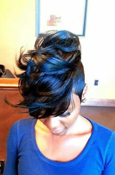 Cool fauxhawk hairstyle for black women