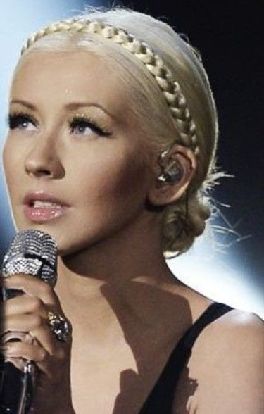Braided Bun - Christina Aguilera Hairstyles