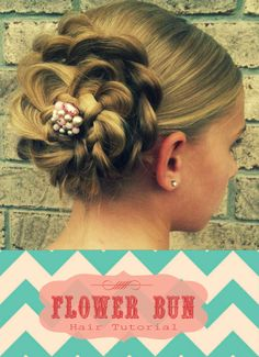 Cute flower bun hairstyle