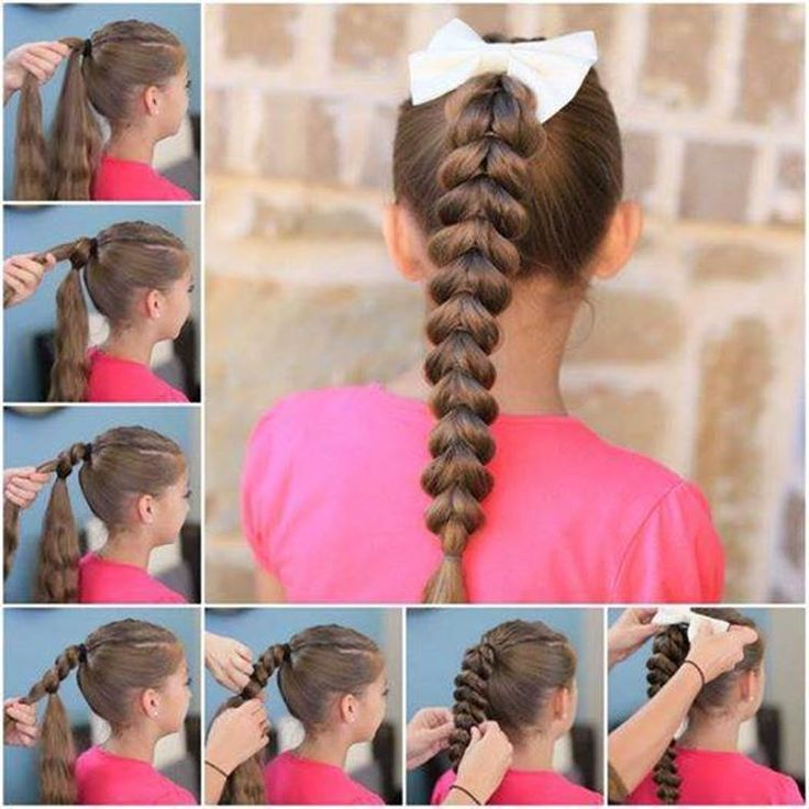 Inverted heart-shaped ponytail hairstyle