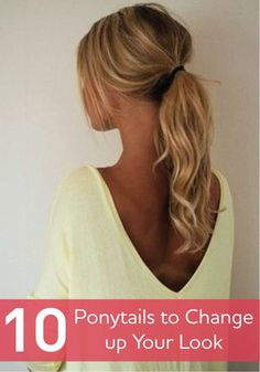 Ponytail hairstyle for long wavy hair