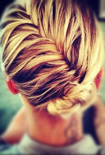 Stunning French braid updo hairstyle