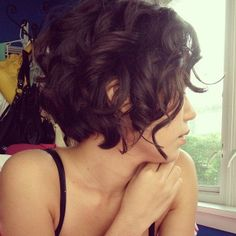 Curly Bob hairstyle for thin hair