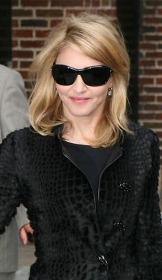 Medium length blonde hair for Madonna hairstyles