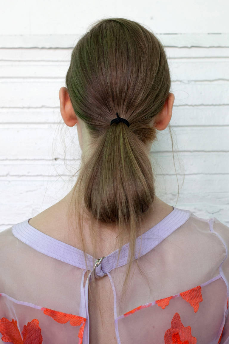 Beautiful ponytail hairstyle