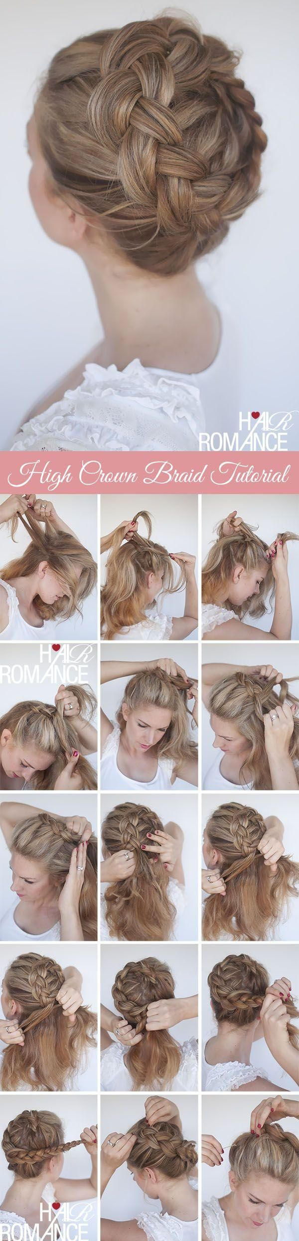 Nice tutorial for braided crown hairstyles