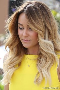 Long blonde ombre hairstyle