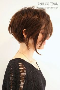 Layered short bob hairstyle