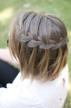 Braided waterfall for short hairstyles