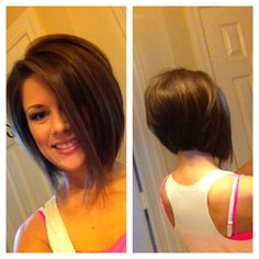 Stacked bob haircut for brunette hair