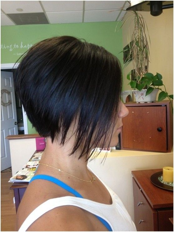 Naughty stacked bob haircut