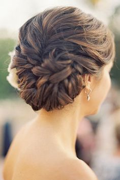 Stunning braided updo for wedding hairstyles