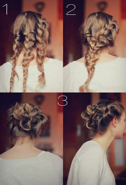 Glamrous Braided Updo Hairstyle