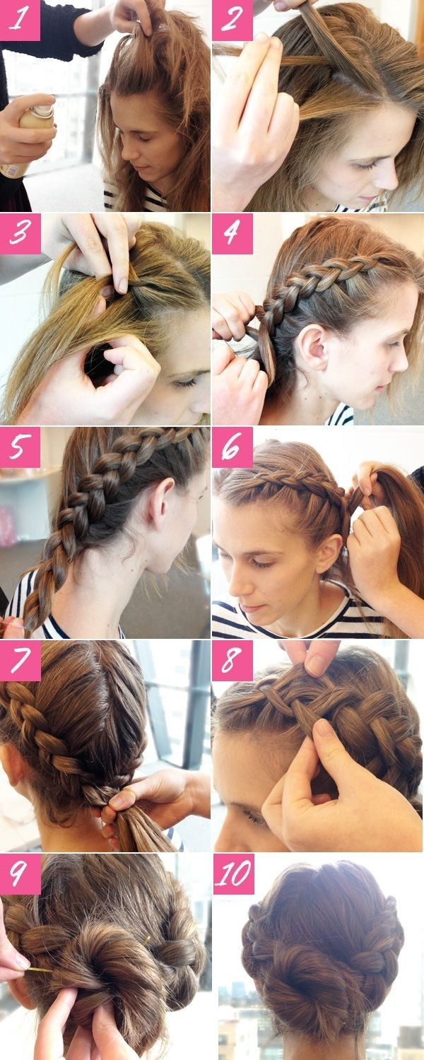 Braided updo for prom hairstyles