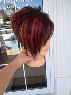 Colored funky hairstyle